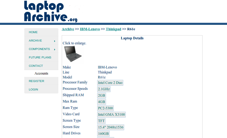 laptoparchive